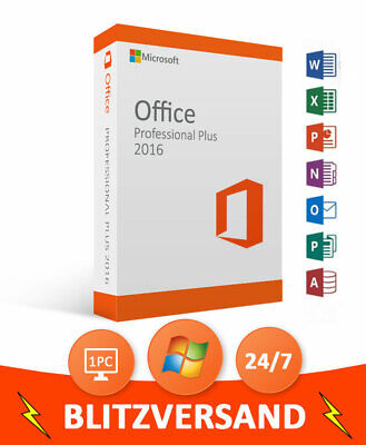 MICROSOFT OFFICE 2016 Professional Plus 64/32 BIT ✔ Product Key ✔  Vollversion