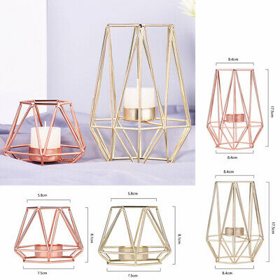 Nordic Style 3D Geometric Candle Holder Candlestick Home Decor Craft Art Gift