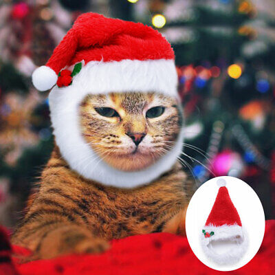 Christmas Hats For Dogs.Christmas Hats For Dogs Pet Cat Xmas Red Holiday Costume Santa Hat Cap Outfit