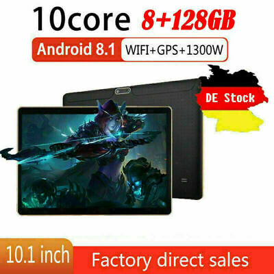 10,1 Zoll 4G-LTE Tablet Android 8.0 Bluetooth PC 6 + 64G SIM GPS Dual Kamera