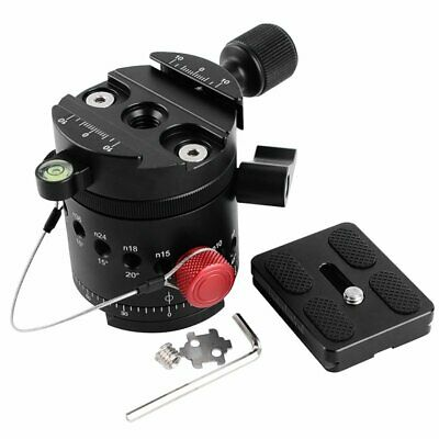 DH-55 Panoramic Panorama Indexing Rotator Tripod Head + QR Plate & Clamp
