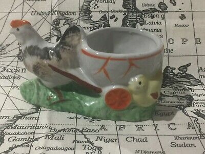 Vintage KITSCH Hen and chicken Ceramic planter    Adorable !!! Made in Japan
