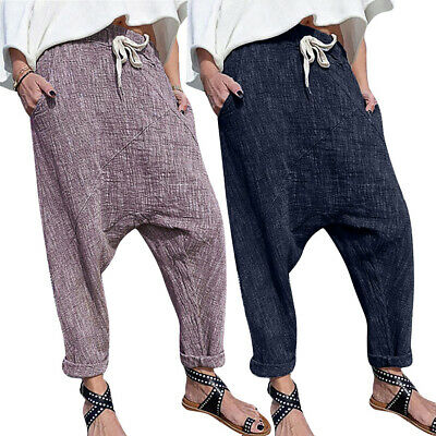 Mens Pants Male Trousers Drawstring Pants Fashion Casual Trousers Ankle Length