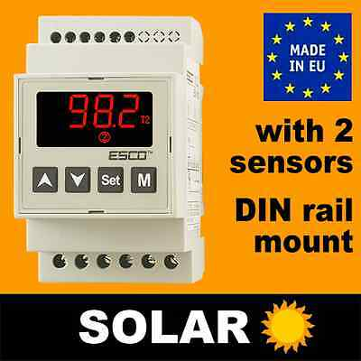 Differential Thermostat Controller SOLAR Hot Water Panel Collector boiler pump