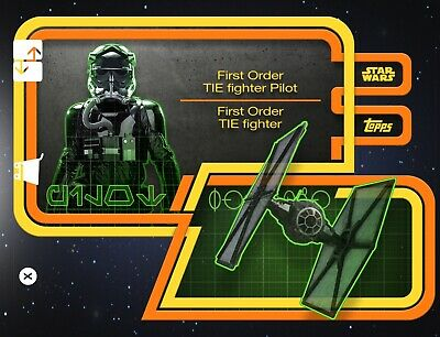 GALACTIC TRANSIT YELLOW FO TIE FIGHTER PILOT Topps STAR WARS DIGITAL Card Trader