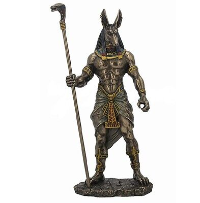 10.75 Inch Egyptian Anubis Sculpture Figurine Ancient Egypt God Statue Pagan