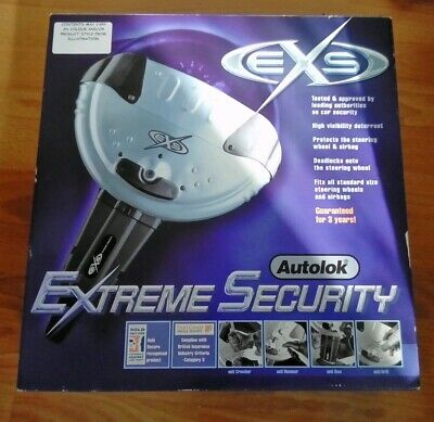 Autolok Extreme Security Steering Wheel Lock Car Vehicle With Two Keys NEW