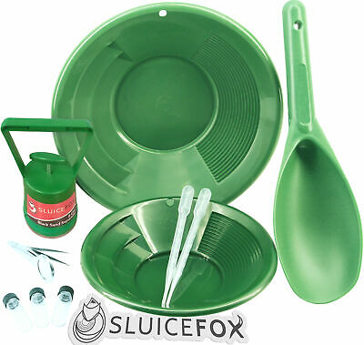Sluice Fox 10 Piece Gold Panning Kit | Gold Pans | Vials | Magnetic Separator