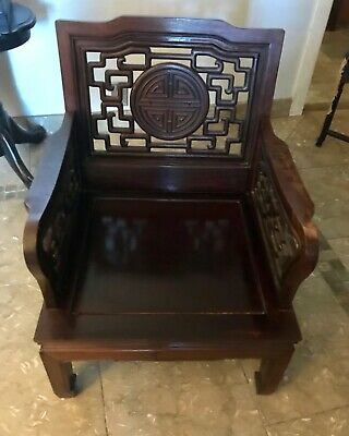 Antique Chinese ALTAR CHAIR - Beautiful Detail