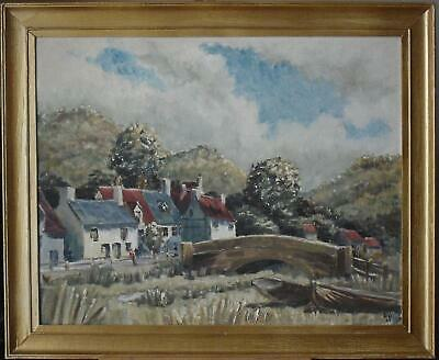 Summer at Sands End Whitby Oil Painting Walter Wolfe 1965 (British School)