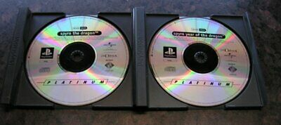 2 x SPYRO GAMES - Sony Platstation 1 PS1 - The Dragon + Year of The Dragon