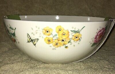 """Lenox Butterfly Meadow 9"""" Round Serving Bowl Melamine Brand New"""