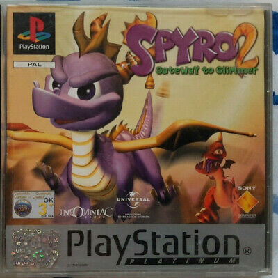 Spyro 2: Gateway to Glimmer Sony PS1 Front/Rear Covers + Manual - NO GAME