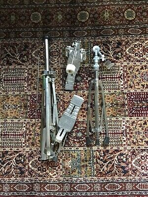 Vintage Drum Hardware Package/Job Lot: Bass Drum Pedal/Hi-Hat Stand/Boom Cymbal