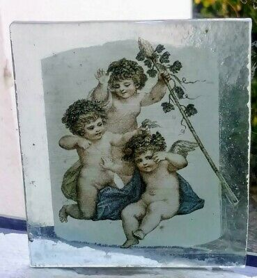 Stained Glass Cupids / Angels / Cherubs  -  Kiln fired fragment pane!