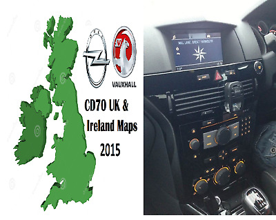 Latest Vauxhall CD70 Navi UK & Ireland maps Sat Nav map disc Astra Vectra Signum