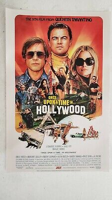 FREE SAME DAY SHIPPING Once Upon a Time in Hollywood 11x17 Promo Movie POSTER
