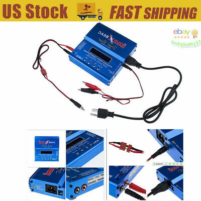 Digital Balance Charger 80W iMAX B6AC Battery AC to DC Adaptor Multi-function US