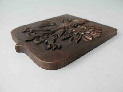 Vintage Polish Bronze or Brass Eagle Wall Plate / Badge  Made in Poland