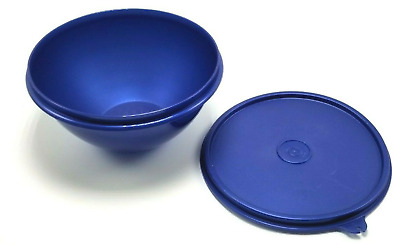 Tupperware Wonderlier Bowl & Seal Jewel Tones Sapphire Blue 4 Cups New old Stock