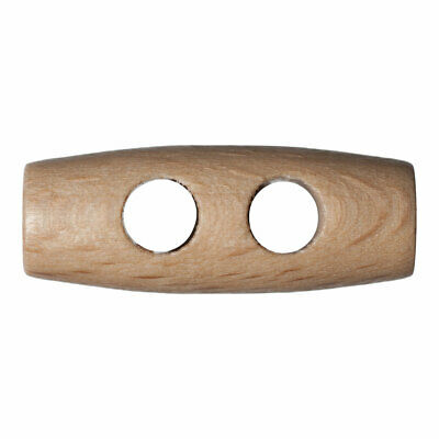 Trimits | Wooden 2-Hole Toggle | 25mm | Pack of 50 | FREE SHIPPING | G203525