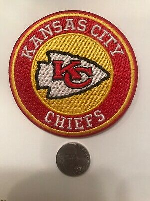 """Kansas City Chiefs vintage embroidered iron on logo patch 3""""  NFL"""