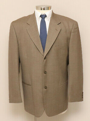 Mens 42R Zeidler Brown Wool Blend Blazer