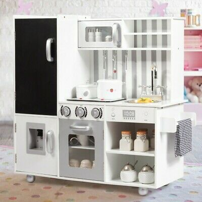 WHITE KIDS KITCHEN Playset Cooking Toys Preschool Toys & Pretend Play  Hobbies US