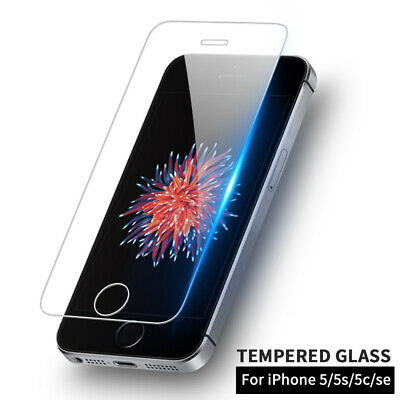 Premium Ultra Clear Tempered Glass Screen Protector For iPhone SE 5/5s/5c Lot