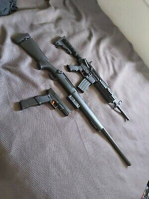 Gel Blasters. M4SS, Glock 18 (extended mag), M24 Rifle For Sale.