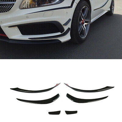 FRP Front Bumper Spoiler Canards Lips Splitters  For Mercedes W176 A250 A45 AMG