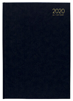 2020 Milford Windsor Diary A4 Day to Page Black 441000
