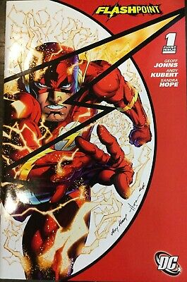 Flashpoint #1 SDCC 2011 Exclusive variant Geoff Johns Sandra Hope Andy Kubert