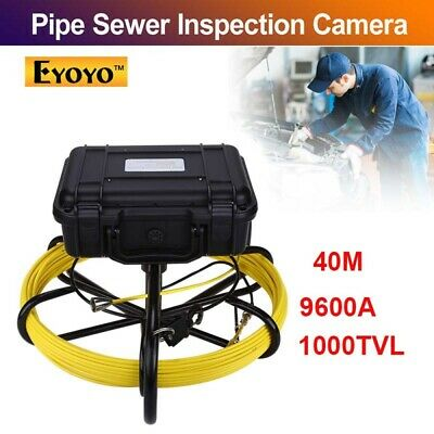 """Eyoyo 9600A Under Water Pipe Sewer Inspection Camera 40M 9"""" LCD Waterproof IP68"""