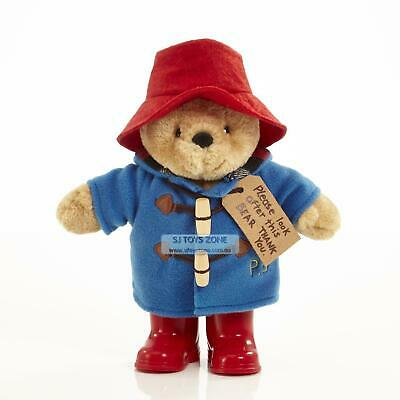 Classic Paddington Bear with Boots in Blue Coat Soft Plush Toy 22cm