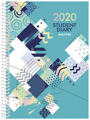 2020 Milford Student Diary A5 Week to View Spiral 441069