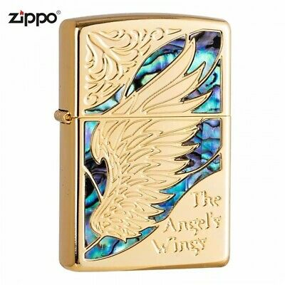 Gold Inlay Shell The Angel's Wing Zippo Lighter