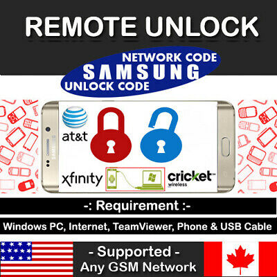 Samsung Galaxy AT&T Cricket Spectrum Xfinity Note 10+ Remote Unlock Code Service