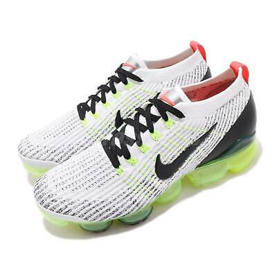 Nike Air Vapormax Flyknit 3 White Black Volt Men Running Shoe Sneaker AJ6900-100