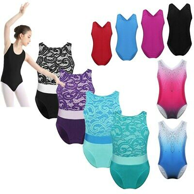 Girl Ballet Dance Leotard Gymnastics Dress Lace Top Jumpsuit One Piece Dancewear