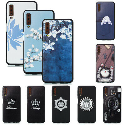 For Samsung Galaxy A6 A7 A8 J4 J6 2018 Slim Soft Silicone Painted TPU Case Cover