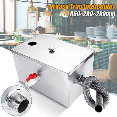 🔥8LB 5GPM Commercial Per Minute Grease Trap Stainless Steel Interceptor Filter