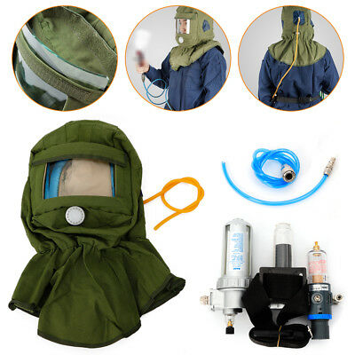 Air Supplied Fed Respirator System Helmet Full Face Mask Respirator System
