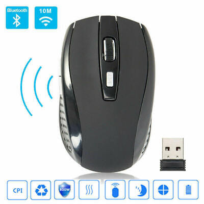 2.4GHz Laptop Wireless Optical Mouse Adjustable DPI Cordless Mice + Receiver asf