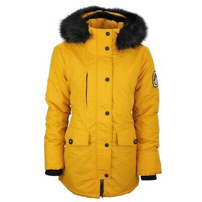 SUPERDRY FEMMES MANTEAU Veste Ashley Everest Parka Jaune