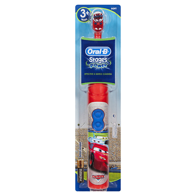 Oral B Stages Power Disney Mcqueen Cars Kids Battery Toothbrush With Magic Timer