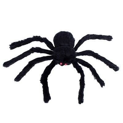 30cm/75cm Halloween Spiders Black Large Spider Plush Toy Realistic Hairy Spider