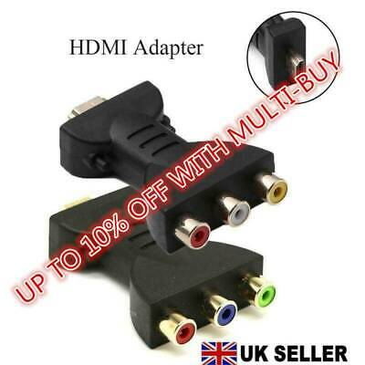HDMI To 3 RGB RCA Video Audio Adapter Durable AV Component Converter New HQ