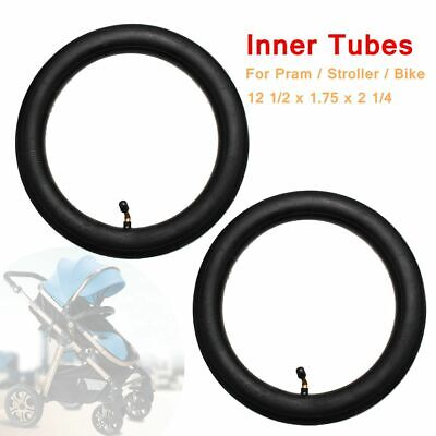 2x Inner Tube Bent Valve For HOTA Pram Stroller Bike Size 12 1/2 x 1.75 x 2 1/4
