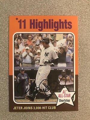 2019 Topps Archives 1975 Topps Highlights Derek Jeter High Number Card #311